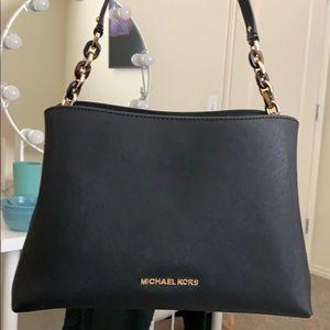 Black & gold Michael Kors handbag